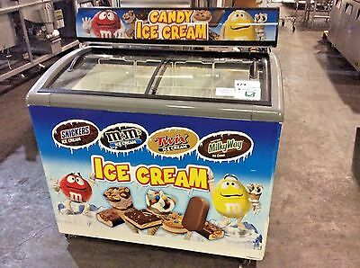 Ojeda Nb-43 Slide Top Chest Freezer Ice Cream Novelty Merchandiser Commmercial