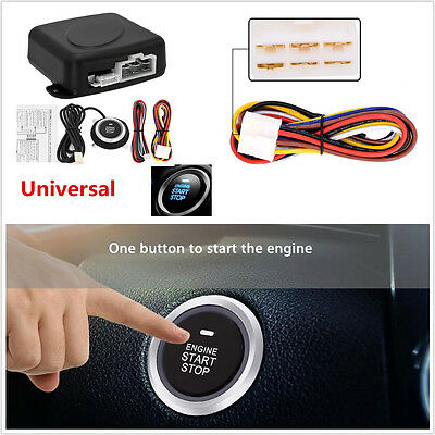 Autos 4in1 Alarm Start Security System Key Passive Keyless Entry Push Button 12V
