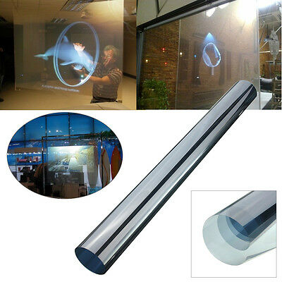 Rear Projection Screen Material Self Adhesive Holographic Window Film 60*120cm