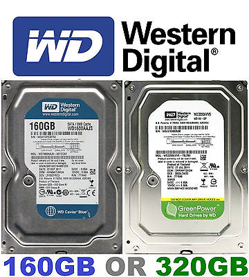 "WD 160Gb/320Gb HDD 3.5"" SATA PC/Desktop Hard Disk Driive Western Digital HD"