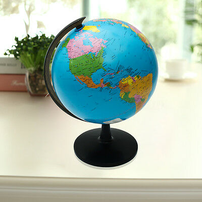 32cm Blue Ocean World Globe Map Swivel Stand Student Geography Educational Tool