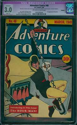 Adventure Comics # 48  First Hourman by Baily !  CGC 3.0 scarce book !