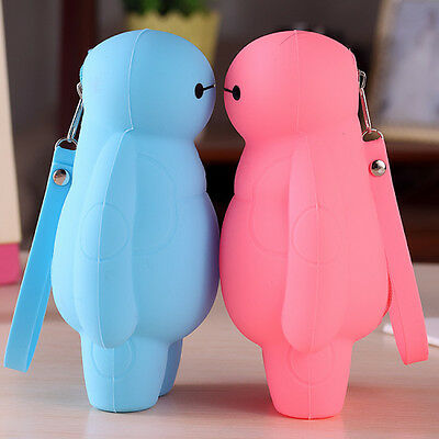 Lovely Pen Bag Soft Silicone Large Capacity Pencil Case Pen Box Money Save Bags
