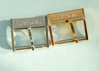 2 Bulova accutron Buckles Genuine 14mm  bulova accutron buckles new old stock