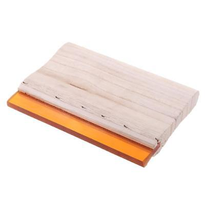 15cm 70 Hardness Screen Printing Press Squeegee Wood Handle Rubber Scraper