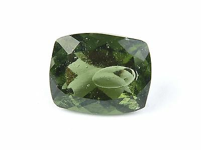 9.46ct ONE FACETED NATURAL MOLDAVITE + BUBBLE + GEM certificate #CERTIF126
