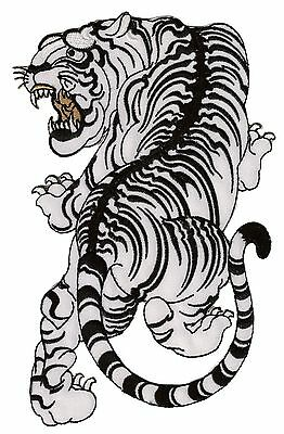 Patche dorsal écusson dos taille medium Tigre Tattoo chine patch brodé