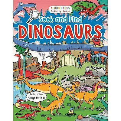 Seek and Find Dinosaurs (Bloomsbury Activity Book) - Paperback NEW Emiliano Migl