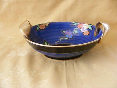 Fieldings Crown Devon Twin Handle Oval Bowl -Hand Painted Beauty Good Condition!