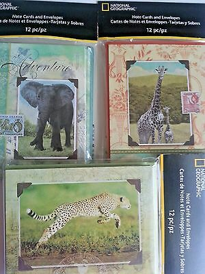 National Geographic Blank Note Cards, 1 New Pack of 12, 2 Opened Of 10 & 11