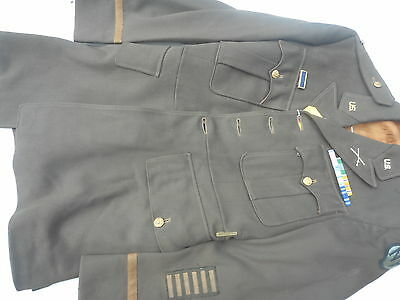 WW2 US Army Officers Tunic Infantry First LT Bars New York Guard Size Named 1941