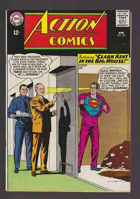 Action Comics # 323  Clark Kent in the Big House !  grade 7.5 scarce book !