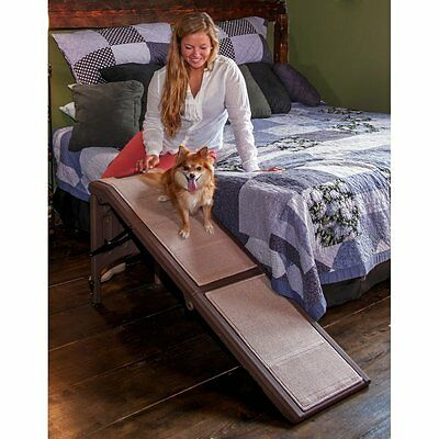 "Pet Gear Free Standing Dog Cat Pet SUV Furniture Bed Ramp 56"" L Chocolate"