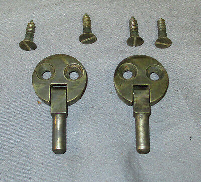Antique Vintage 2 Hole Singer 27 Treadle Sewing Machine Cabinet Hinges 1900-1908