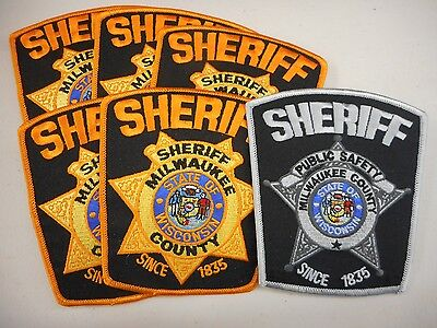 Trader lot of 6 Milwaukee County, WI sheriff patches - free shipping to US