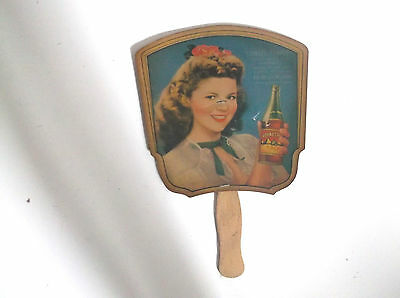 Vintage Shirley Temple Royal Crown Rc Cola Paper Fan Advertising War Bonds