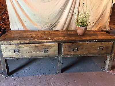 Antique Old Pine Workbench