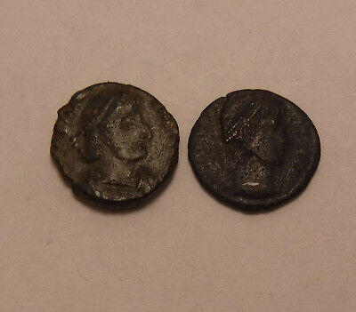 2 ANCIENT ROMAN or GREEK COIN unidentified NICE DETAILS no reserve