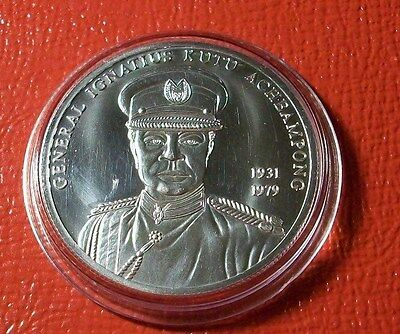 Ghana 2002 100 Sika General Acheampong .925 Silver  KX25