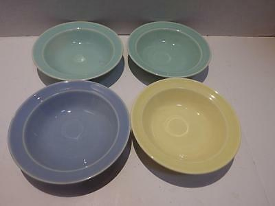(4) Luray Pastels Dessert Berry Fruit Bowls Green Yellow Blue Taylor Smith & T