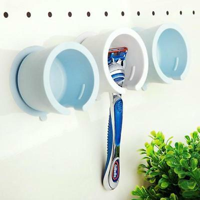 Safe Razor Stand Suction Cup Holder Shaver Cap Bathroom Rack Wall-mounted - SUN