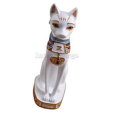 Ancient Egyptian Mau Egypt Cat Statue Resin Figurine Lucky Fengshui Home Decor