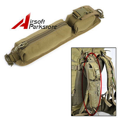Tactical Hunting Molle Accessory Tools Bag Pouch for Backpack Shoulder Strap Tan