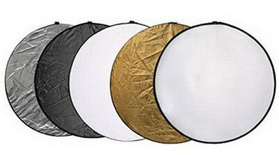 """5in1 33""""  80cm Light Collapsible Panel Reflector diffuser For photography studio"""