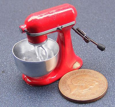 1:12 Scale Non Working Red Food Mixer Dolls House Miniature Kitchen Accessory