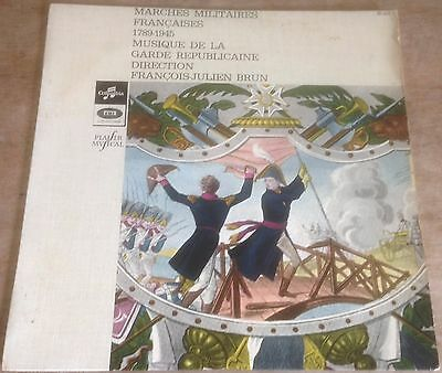 "GARDE REPUBLICAINE marches militaires 1789-1945 FRENCH COLUMBIA 1960 10"" MONO LP"