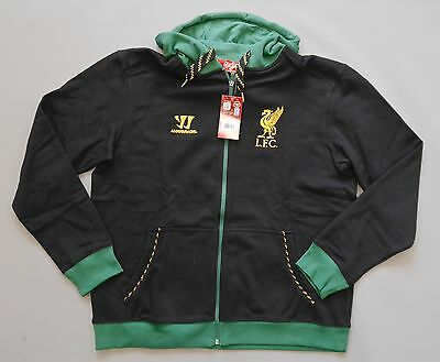 Liverpool FC adults long sleeve hooded sweat top - Black/Green
