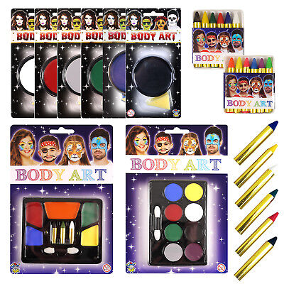 Face Painting Crayons - Face Paints 6 colours - Colour or Neon kit - UK Supplier