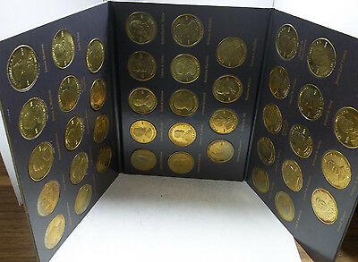 A Coin History of the US Presidents. Complete Set Of 41 Brass Medal Tokens