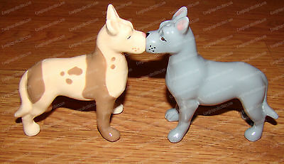 Great Danes Salt & Pepper Shakers (MWAH  by Westland, 93937) Ceramic, Magnetic