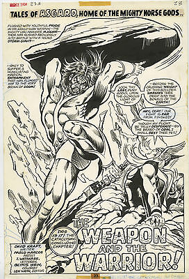 """Thor #253 Page 23 Full Page Title Splash Comic Art By Pablo Marcos """"10'x15"""""""