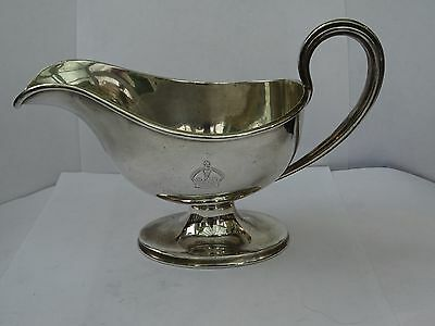Antique Silver Plated Sauce Boat by George Elkington
