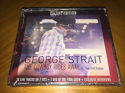 George Strait - The Cowboy Rides Away (Deluxe 2CD + DVD) SEALED but CASE CRACKED