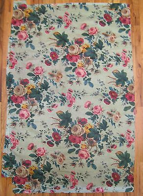 Antique Beautiful 19th C.French  Floral Cotton Chintz Printed Fabric (9996 )
