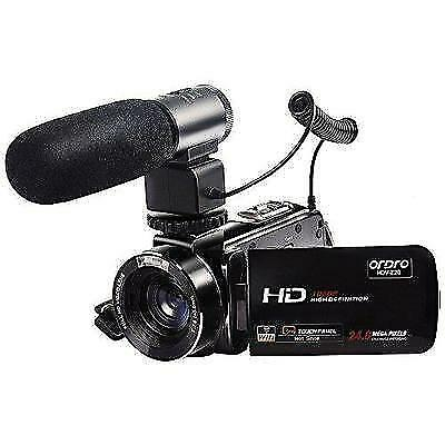 ORDRO Wifi Video Camcorder Full HD 1080p Handheld Digital Camera with External