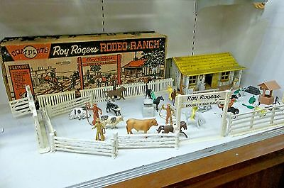 1950's Marx Complete Roy Rogers Rodeo Ranch Vintage Toy Play Set with Box