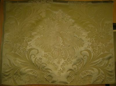 Antique Beautiful Early 20th C. French Silk Woven Framed Damask Fabric (9278)
