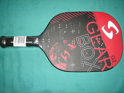 GEARBOX G2  7.8 oz. Pickleball paddle 3 7/8 grip -BLACK/RED/WHITE