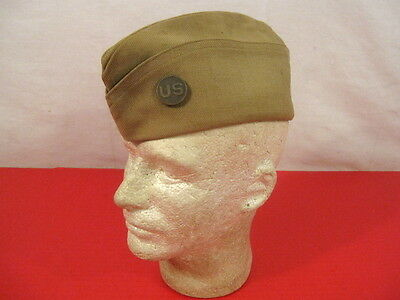 WWI US Army AEF Enlistedman Wool Overseas Garrison Cap w/US Army Disc  Excellent
