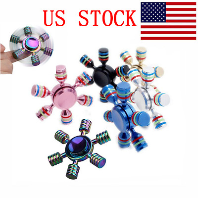 Colourful Gyro Hand Finger Fidget Spinner Toys EDC Focus For adults Gift US