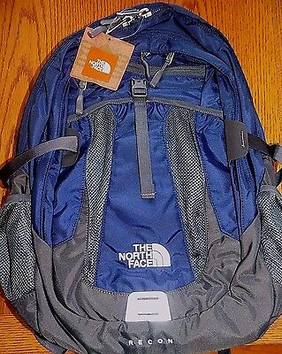 "NWT The North Face Men's  Recon Laptop Backpack Book Bag 15"" LAPTOP COSMIC BLUE"