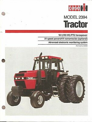 1984 -1988 CASE IH Model 2394 Tractor Sales Brochure