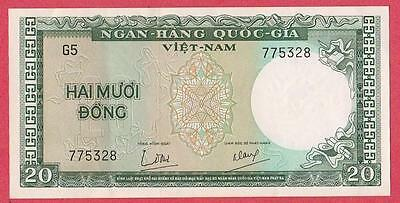 1964 South Vietnam 20 Dong Note