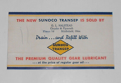 1935 Brochure for SUNOCO TRANSEP Gear Lubricant Sun Oil Co Middlefield, Ohio