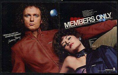 1982 Tony Anthony Geary photo Members Only jacket vintage fashion print ad