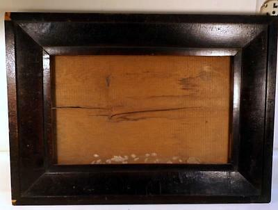 """Antique c1820s Veneer Picture Frame 16x23"""" Holds 11x18"""" Picture or Mirror"""